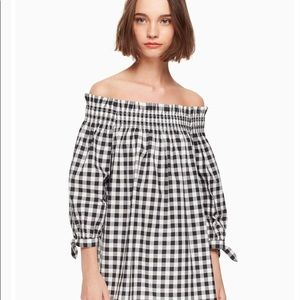 Kate spade gingham off shoulder top